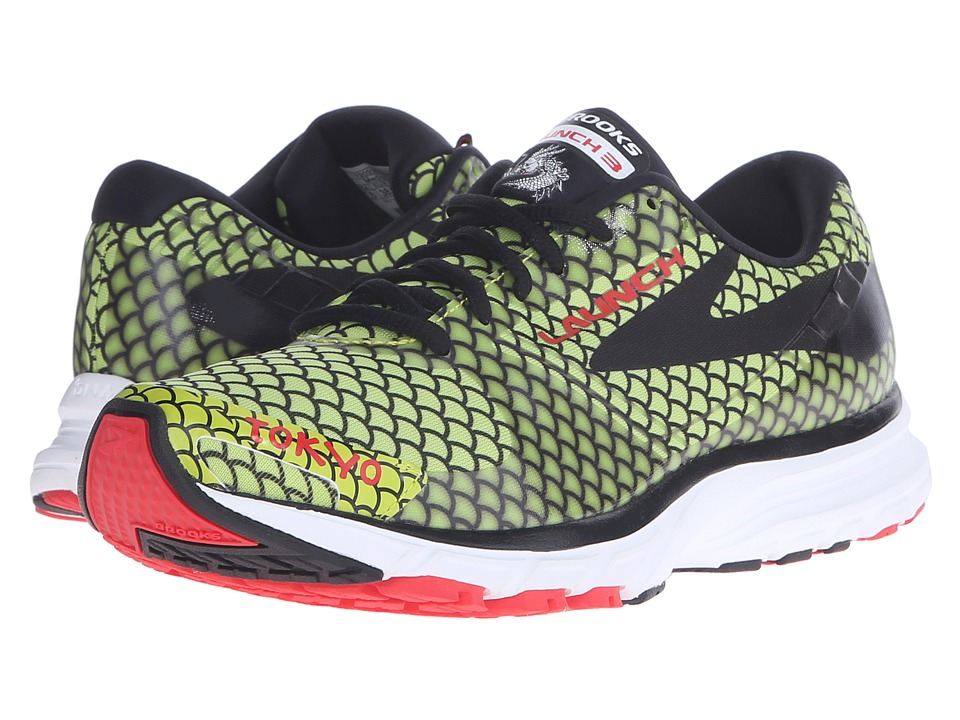 Brooks Launch 3 (Lime Punch/Black/High Risk Red) Women