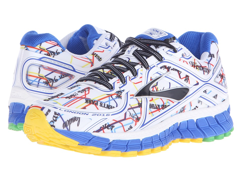 Brooks - Adrenaline GTS 16 (Electric Blue/High Risk Red/Black/Cyber Yellow) Women