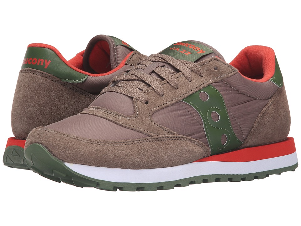 Saucony Originals - Jazz Original (Light Brown/Green) Men