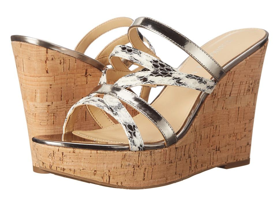 Ivanka Trump Howens White/Black Womens Wedge Shoes