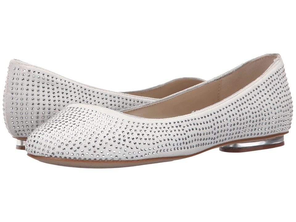 Paradox London Pink Glint Ivory Microfibre Womens Shoes