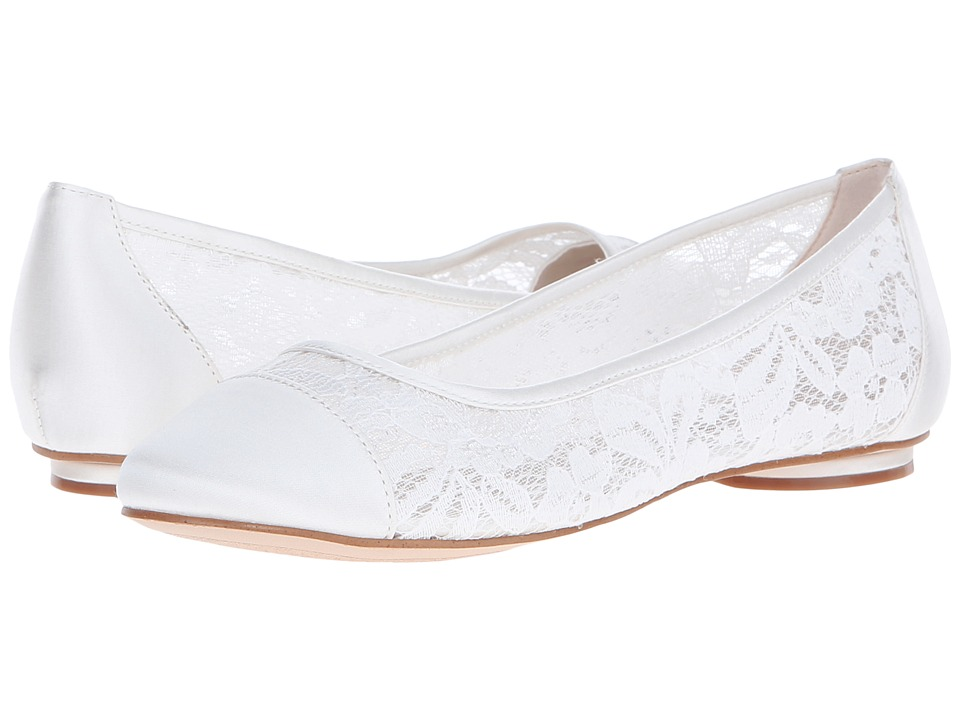 Paradox London Pink Sweetie Ivory Mesh Lace Womens Shoes