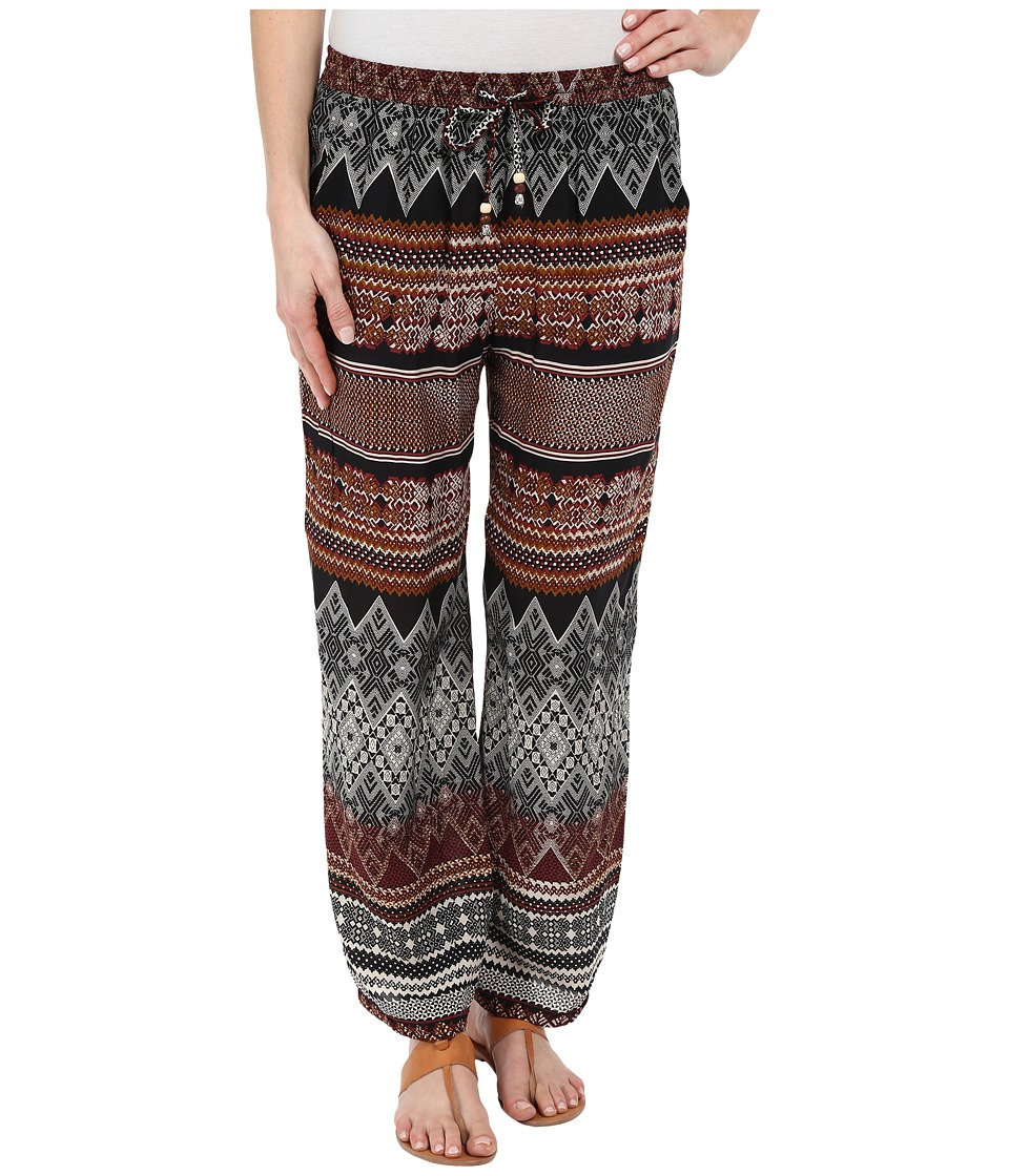 Dylan by True Grit Boho Batik Pants Brown/Khaki/Black Womens Casual Pants