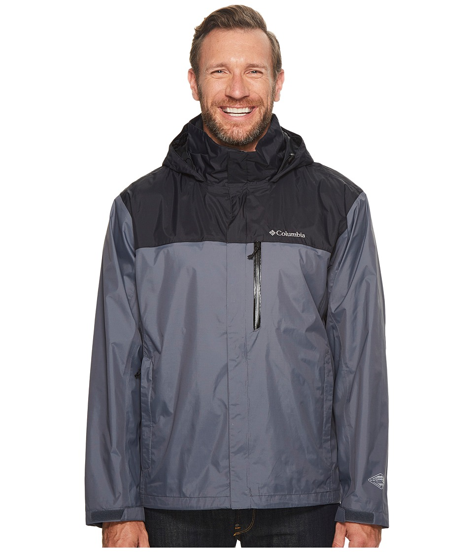 Columbia Big Tall Pouration Jacket (Graphite/Black) Men
