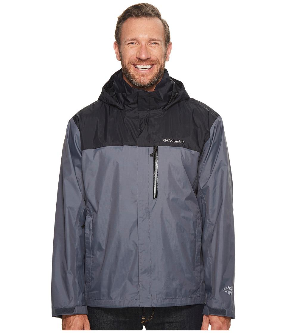 Columbia Big Tall Pouration Jacket (Graphite/Black) Men