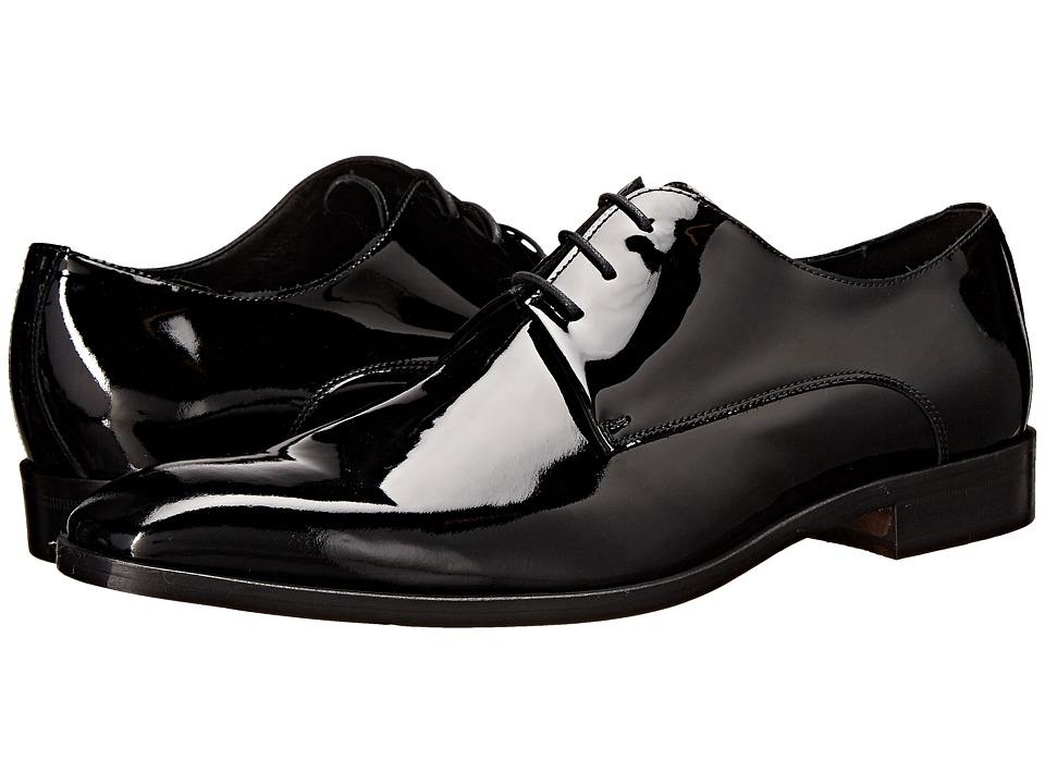 Massimo Matteo 3 Eye Formal Blucher Black Mens Plain Toe Shoes