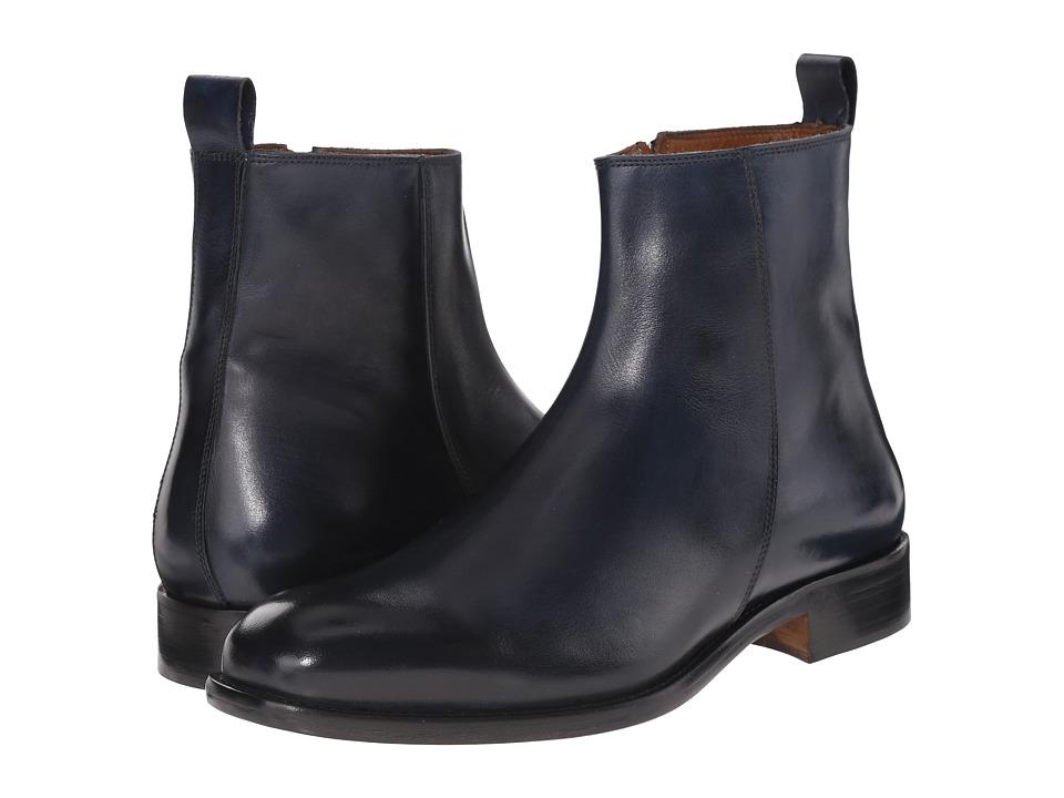 Massimo Matteo Side Zip Boot Navy Mens Zip Boots