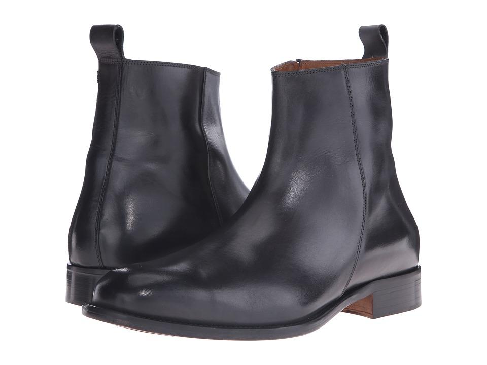 Massimo Matteo Side Zip Boot Grey Mens Zip Boots