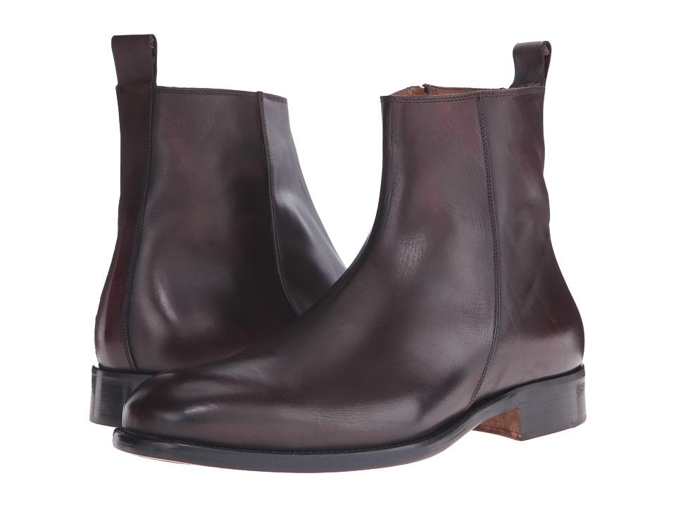 Massimo Matteo Side Zip Boot Burgundy Mens Zip Boots