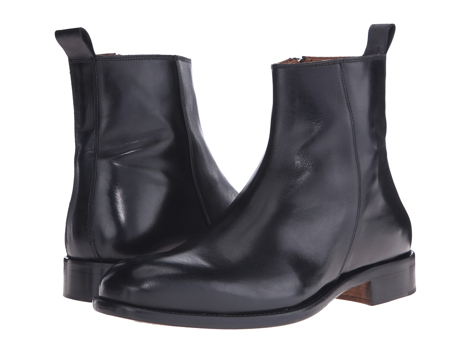 Massimo Matteo Side Zip Boot Black Mens Zip Boots