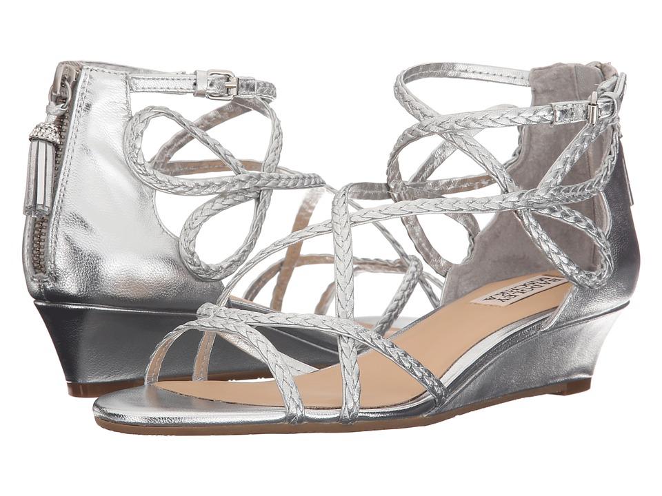 Badgley Mischka Corrine Silver Womens Wedge Shoes