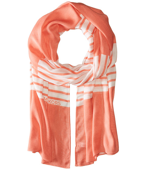 MICHAEL Michael Kors Norwood Stripe Oblong - Caribbean Pink/White