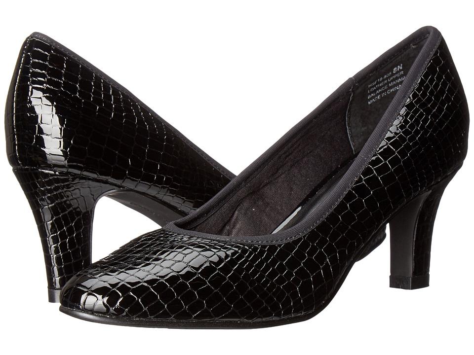 David Tate - Peggy (Black Croc Patent Print) Women