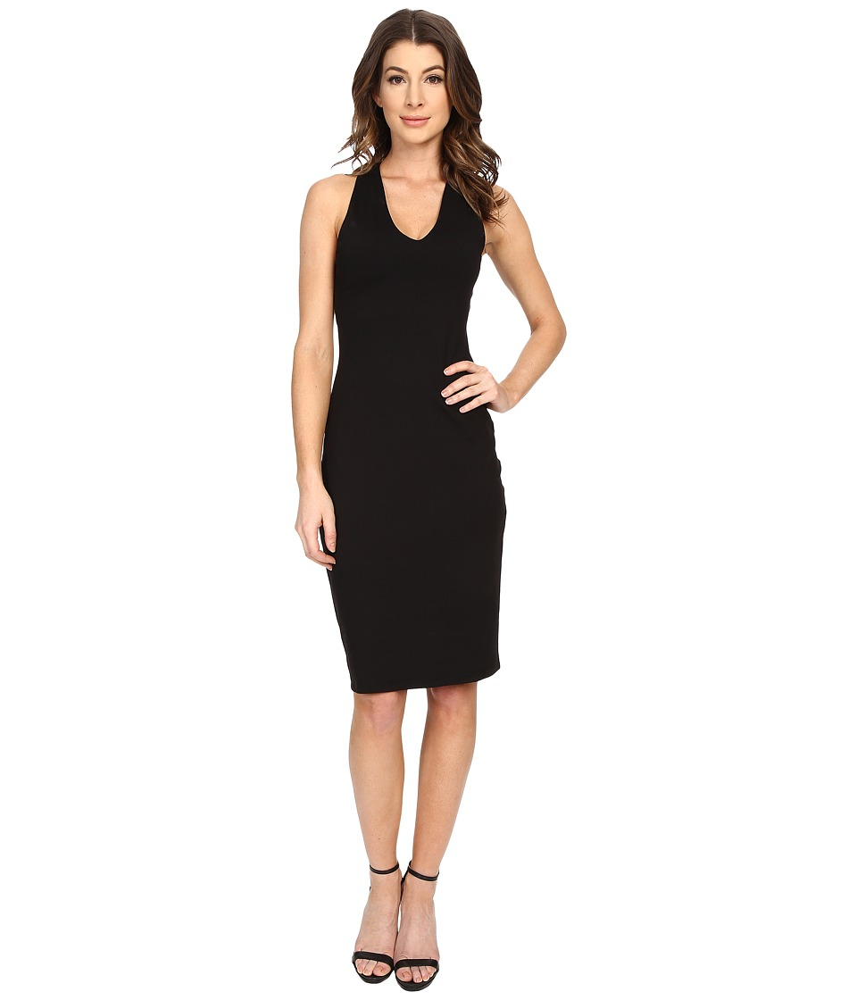 Susana Monaco - Chloe V-Neck Dress (Black) Womens Dress