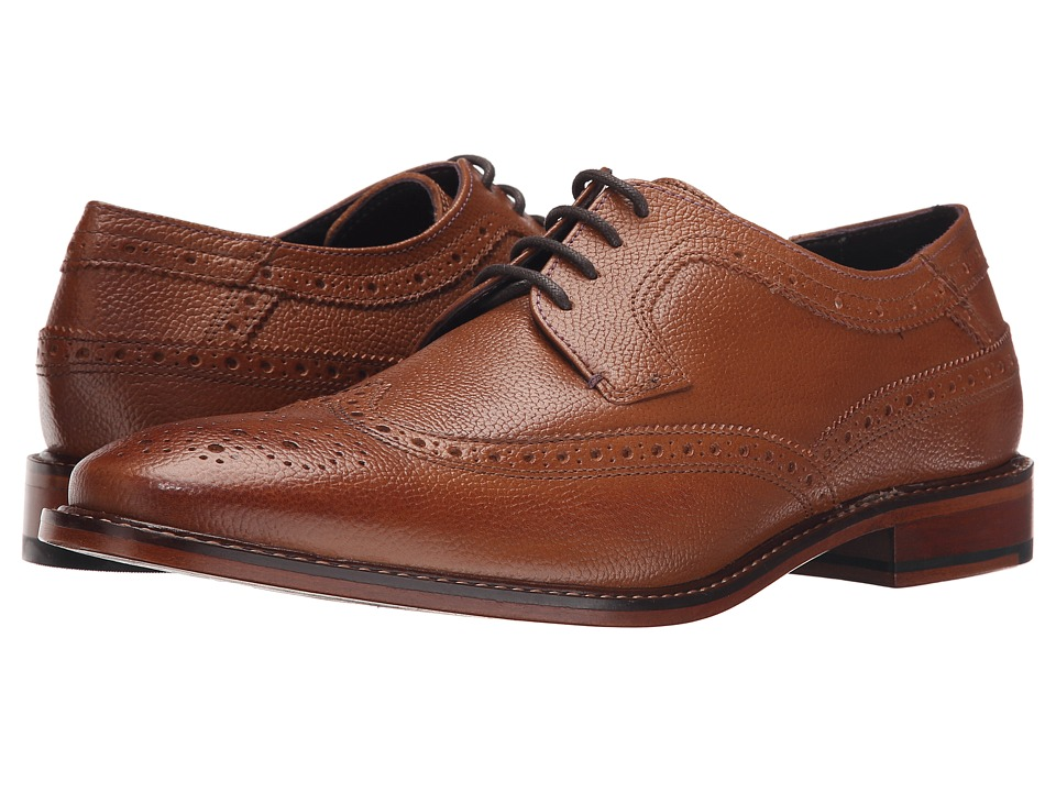 Ted Baker Koptein Tan Leather Mens Lace Up Wing Tip Shoes