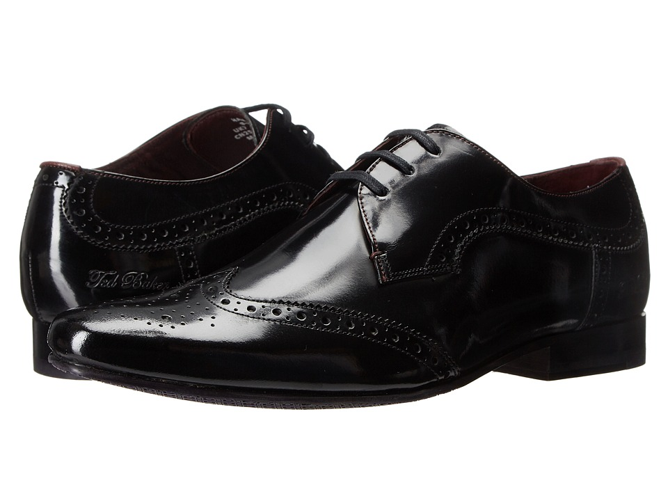 Ted Baker Hamniy 2 Black High Shine Leather Mens Shoes
