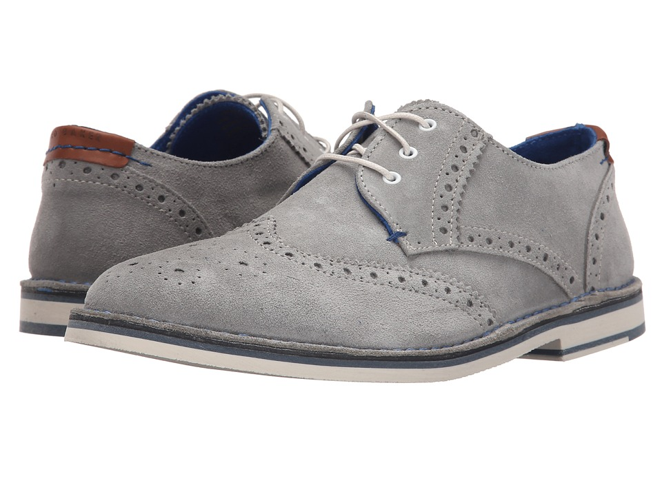 Ted Baker Jamfro 7 Light Grey Suede Mens Lace Up Wing Tip Shoes
