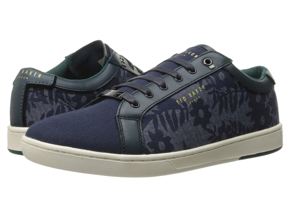 Ted Baker Keeran 3 Blue/White Textile Mens Lace up casual Shoes
