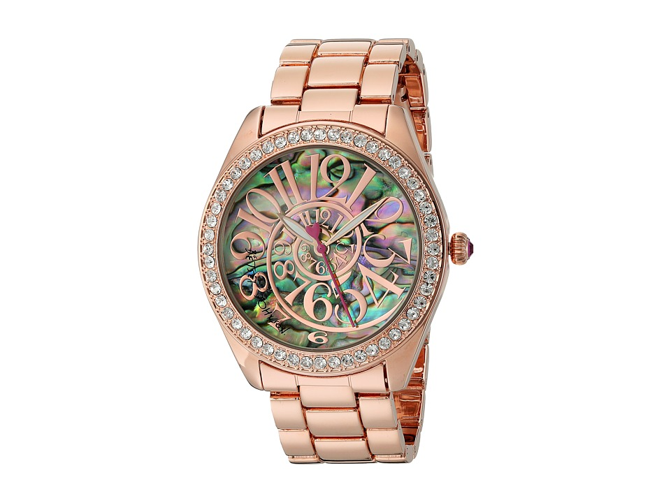 Betsey Johnson - BJ00048-147 - Abalone Optical Dial (Rose Gold/Abalone) Watches