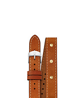 Michele - 18mm Strap Saddle Calfskin Gold Stud Double
