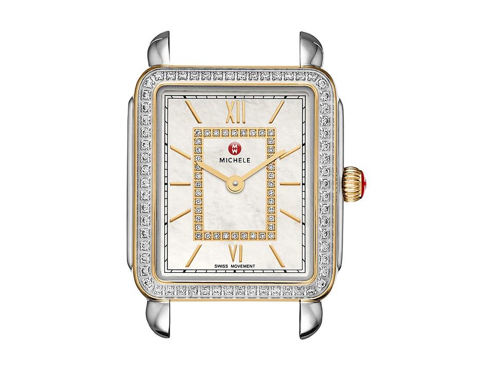 Michele 16mm Deco II Mid Size Diamond Two Tone Diamond Dial Two Tone Watches