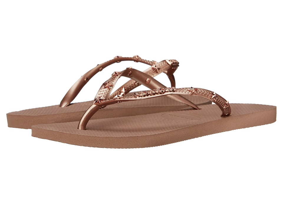 Havaianas Slim Hardware Flip Flops Rose Gold/Rose Gold/Rose Gold Womens Sandals