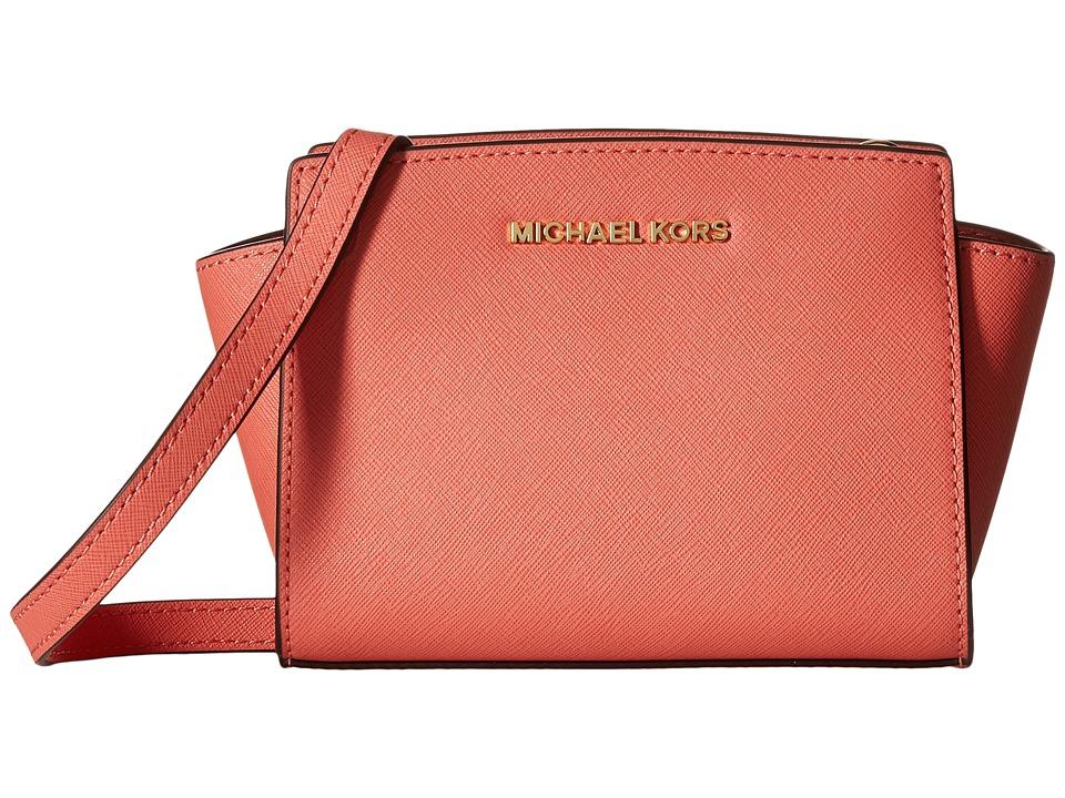 MICHAEL Michael Kors Selma Mini Messenger Pink Grapefruit Cross Body Handbags