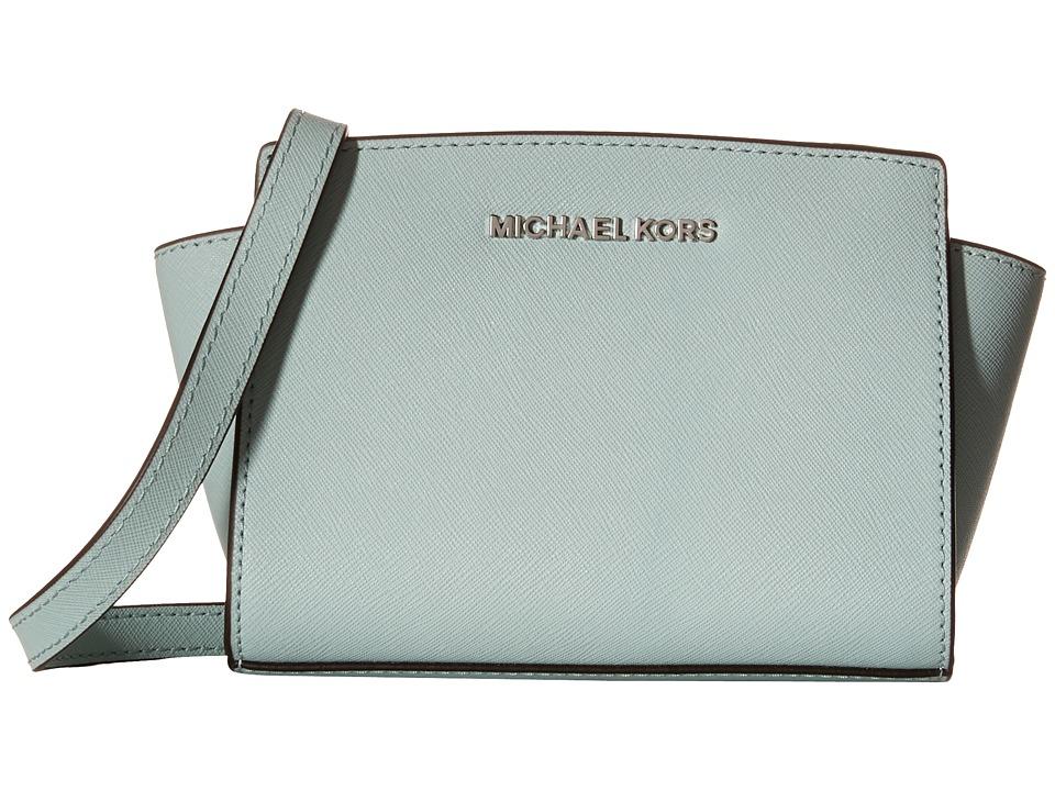 MICHAEL Michael Kors Selma Mini Messenger Celadon Cross Body Handbags