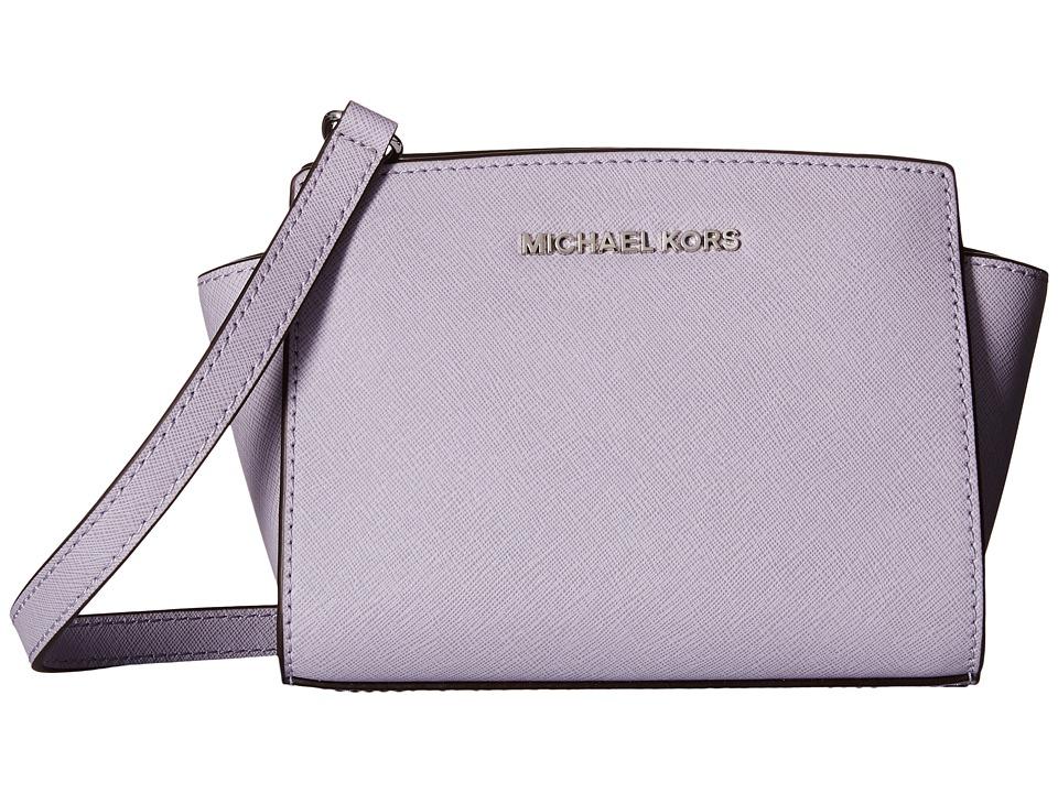 MICHAEL Michael Kors Selma Mini Messenger Lilac Cross Body Handbags