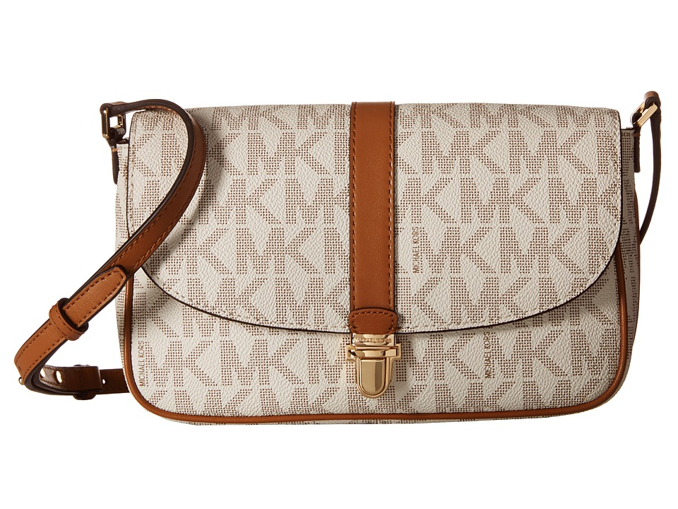 MICHAEL Michael Kors - Charlton Large Crossbody (Vanilla) Cross Body Handbags