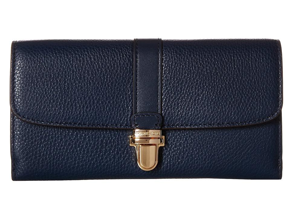 MICHAEL Michael Kors - Charlton Flap Wallet (Navy) Wallet Handbags