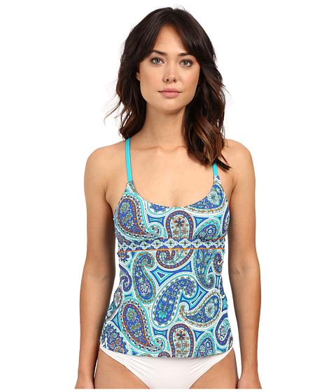 Trina Turk - Riviera Solids Bandeau One-Piece (Cobalt) Women's Swimsuits One Piece