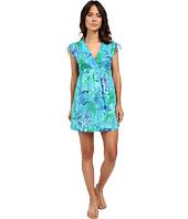 LAUREN Ralph Lauren - Oceania Floral Farrah Dress Crushed Cotton Cover-Up