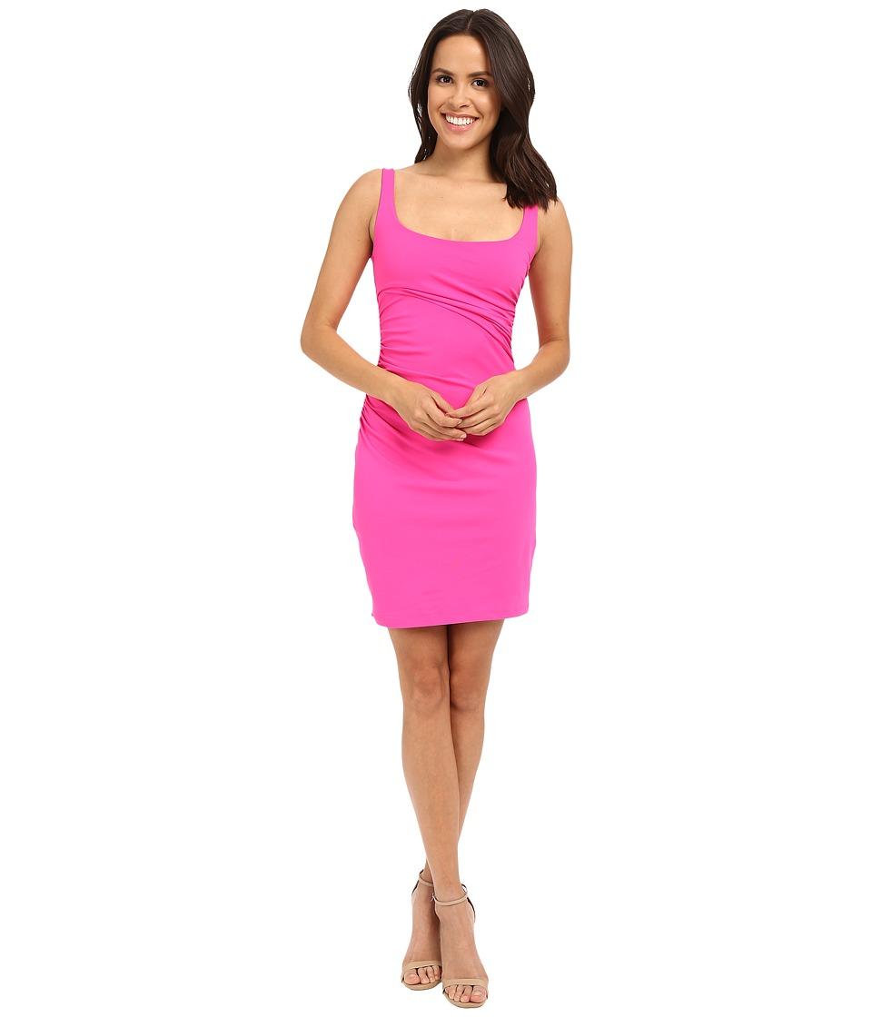 Susana Monaco Gather Tank Dress Pink Glo Womens Dress