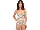 LAUREN Ralph Lauren Colorful Paisley Ring Strapless One-Piece w/ Slimming Fit Removable Cup