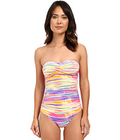 LAUREN Ralph Lauren - Summer Tie-Dye Twist Bandeau Mio One-Piece Slimming Fit w/ Molded Cup