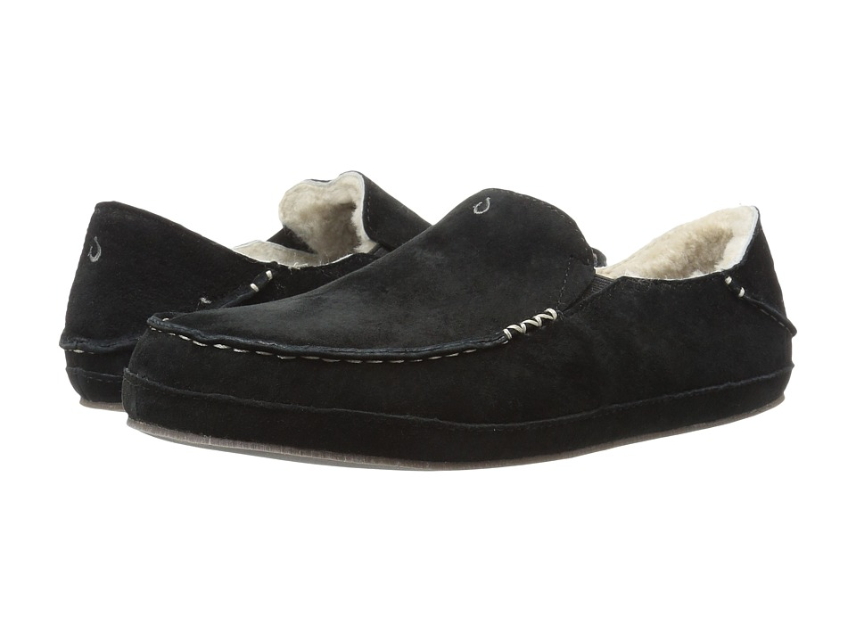 OluKai Nohea Slipper (Black/Black) Slippers