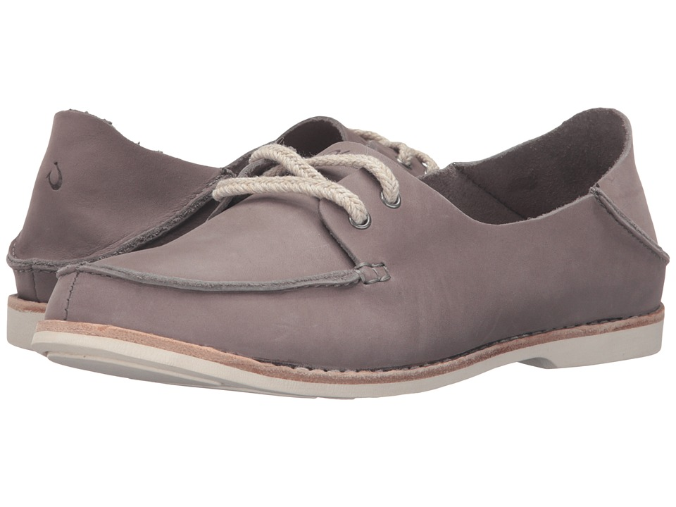 OluKai Moku Leather (Fog/Fog) Women