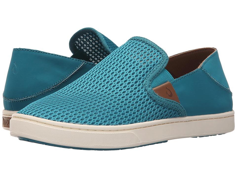 OluKai Pehuea Teal/Teal Womens Slip on Shoes
