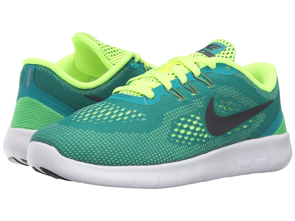 Nike Kids Free RN (Big Kid) (Rio Teal/Volt/White/Black) Boys Shoes