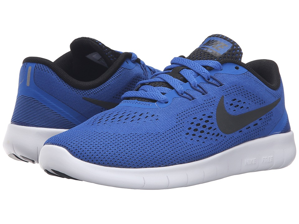 Nike Kids Free RN (Big Kid) (Game Royal/White/Black) Boys Shoes