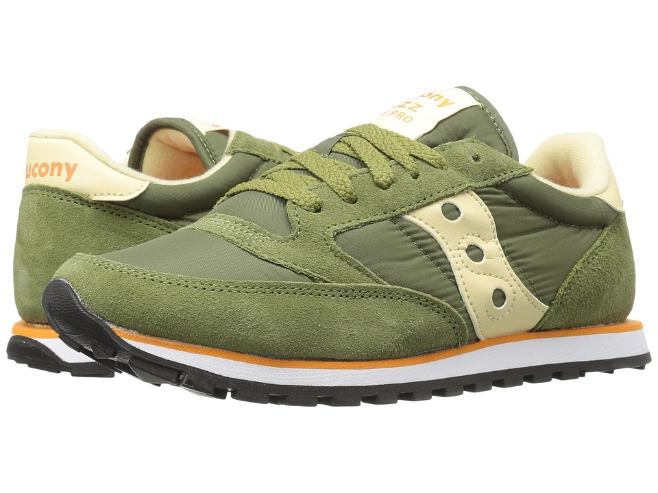 Saucony Originals - Jazz Low Pro (Green/Cream) Men