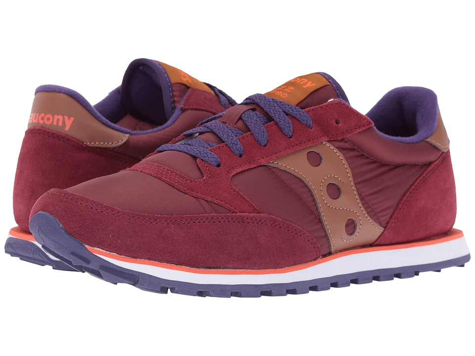 Saucony Originals - Jazz Low Pro (Wine) Men