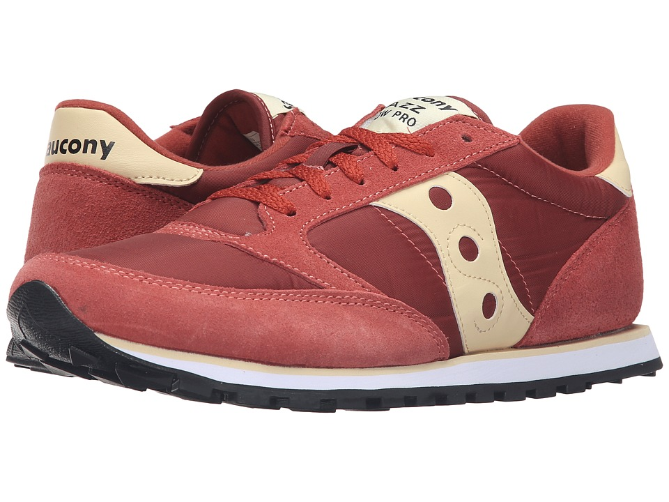 Saucony Originals - Jazz Low Pro (Rust Red/Cream) Men