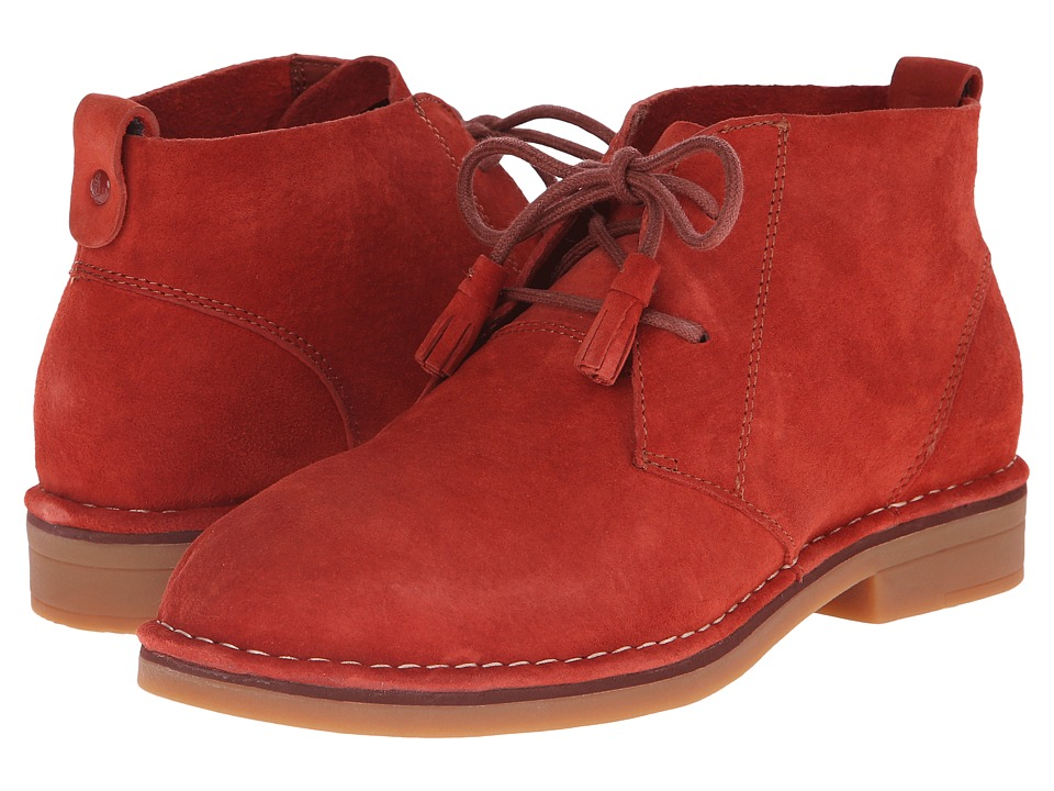 Hush Puppies Cyra Catelyn Dark Orange Suede Womens Lace up Boots