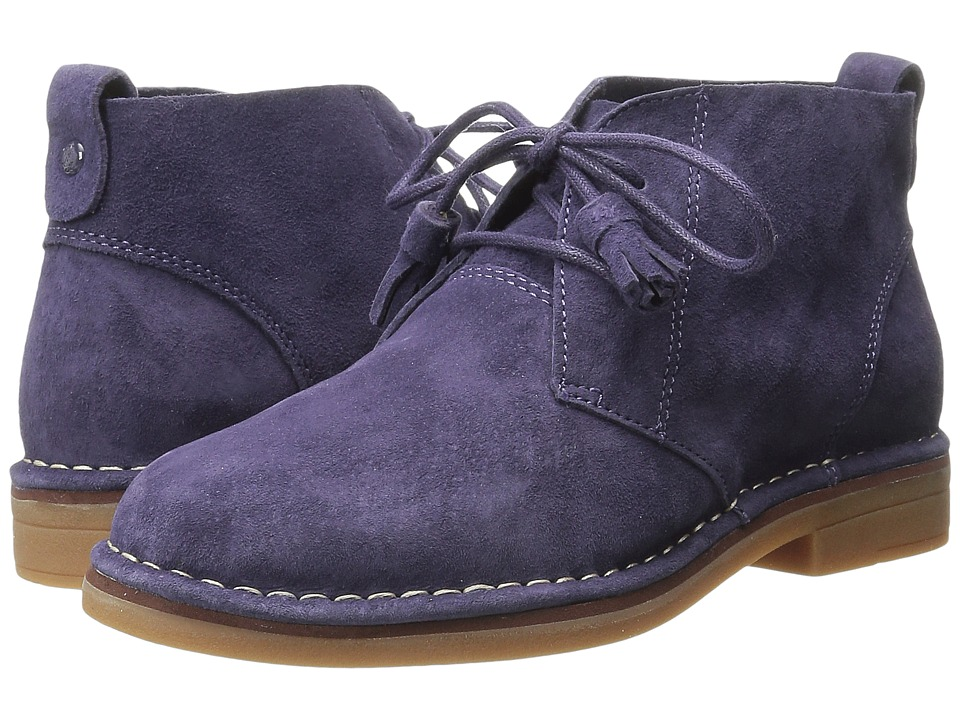 Hush Puppies Cyra Catelyn Plum Suede Womens Lace up Boots