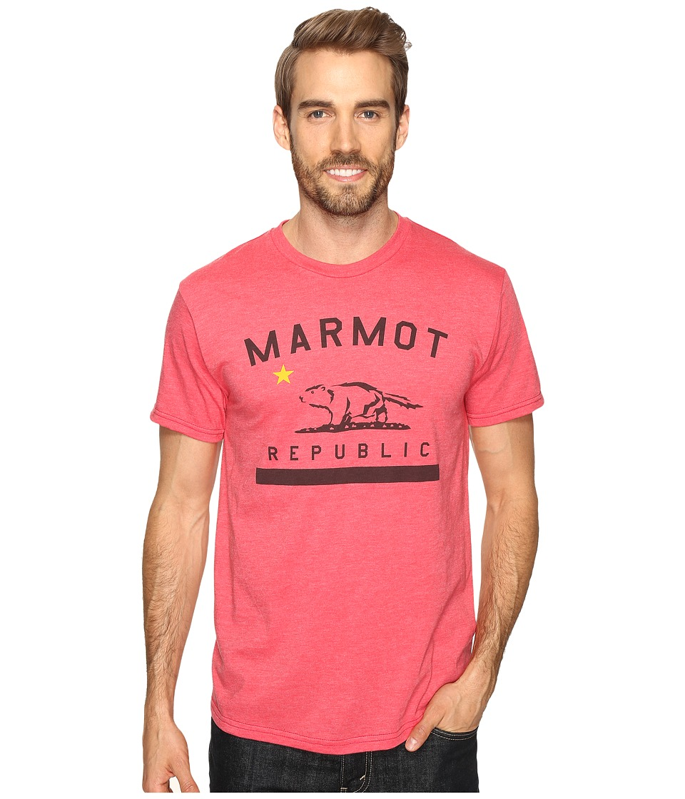 Marmot Marmot Republic Short Sleeve Tee (Red Heather) Men