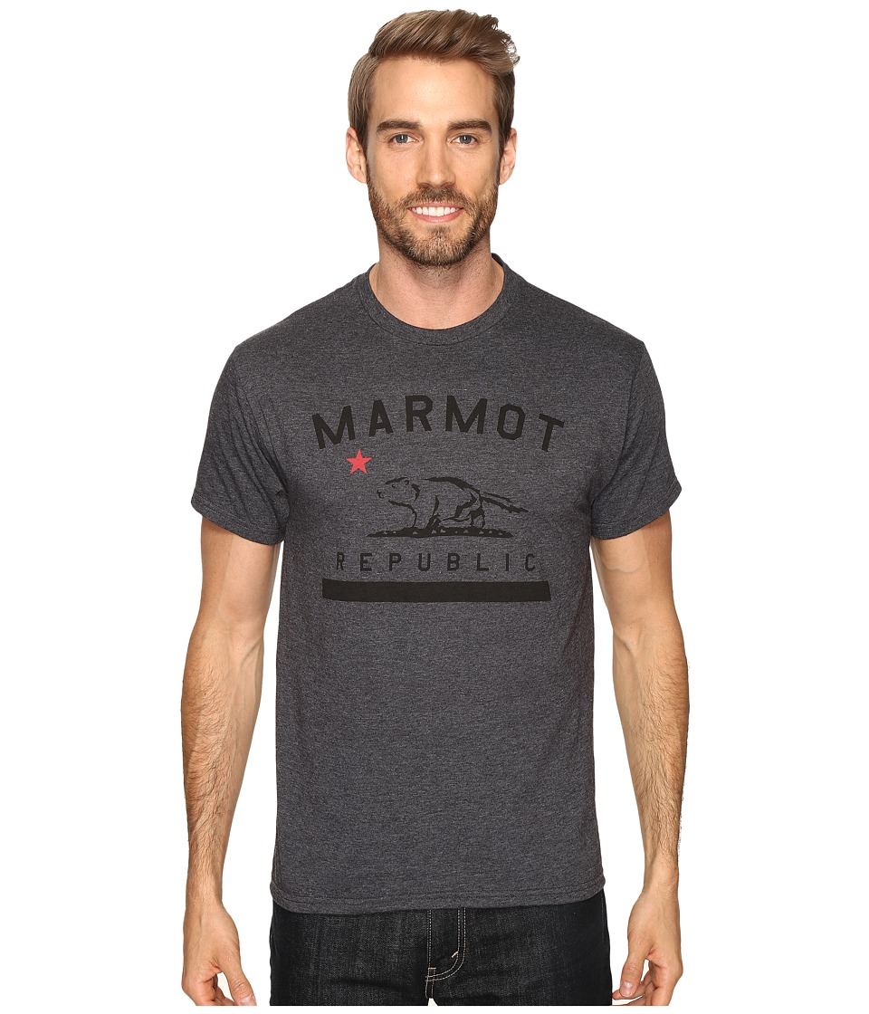 Marmot Marmot Republic Short Sleeve Tee (Charcoal Heather) Men