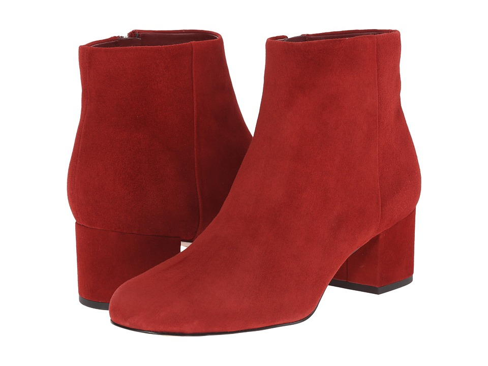 Sam Edelman Edith Rust Red Suede Womens Zip Boots