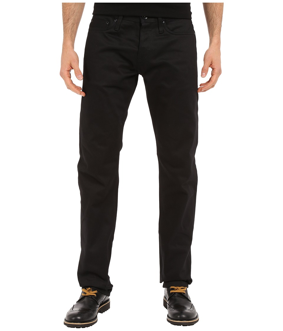 The Unbranded Brand Tapered in Black Selvedge Chino Black Selvedge Chino Mens Jeans